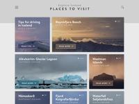 Travel Destination Website – Iceland (Alternative Background)