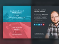Personal Landingpage – Nameplate Website