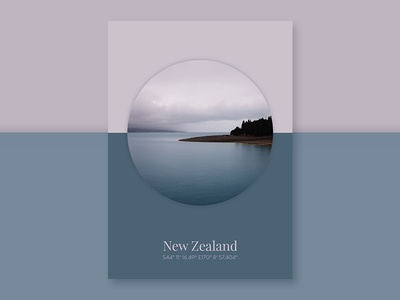 Poster Series - Landscape Geometry typography graphic design colors color scheme color new zealand photography design poster
