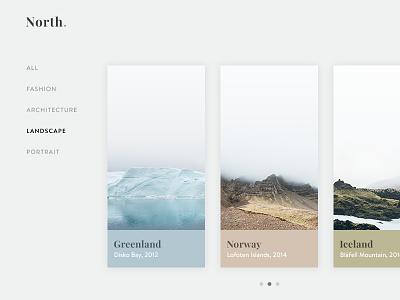 Photography Portfolio – Gallery View gallery grid portfolio design photography interface ui webdesign website