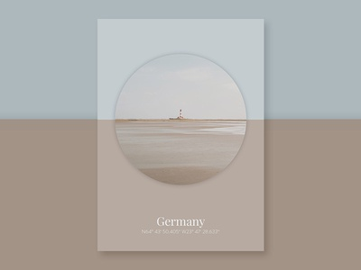 Poster Series: Landscape & Geometry (Germany) poster design photography new zealand color color scheme colors graphic design typography
