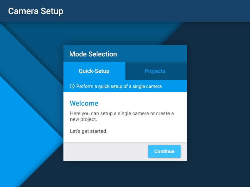 Material Design - Welcome Screen app interface material design google ui ux software camera security