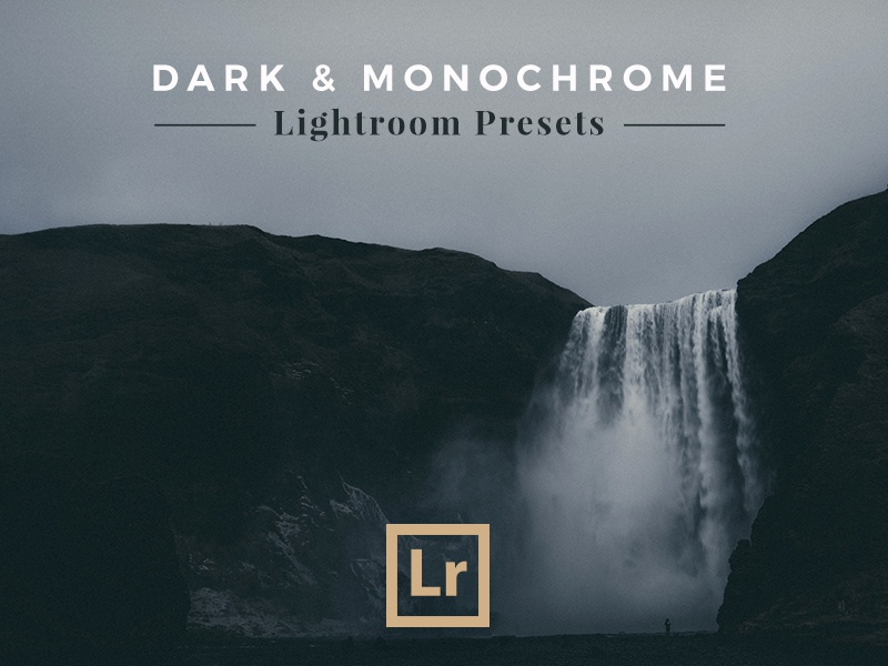 Dark & Monochrome — Lightroom Presets icon typography photography presets landscape monochrome lightroom