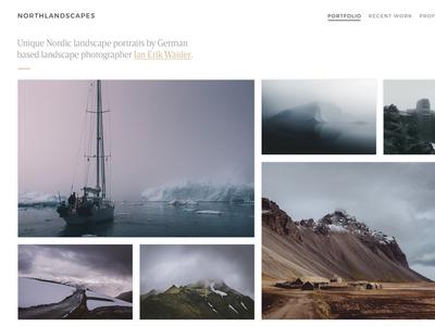 Photography Portfolio / Masonry Gallery Grid thumbnails typography website portfolio webdesign images gallery masonry grid photography