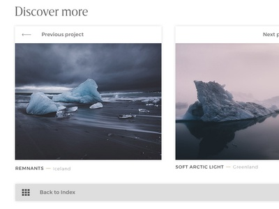 Photography Portfolio / Discover More icons typography buttons webdesign grid thumbnails photography photo portfolio