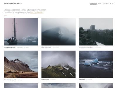 Photography Portfolio / Gallery Grid photography grid gallery images webdesign portfolio website typography thumbnails