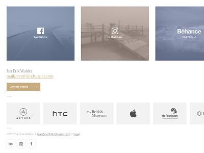 Photography Portfolio / Social Media Buttons logos ui webdesign portfolio photography button behance instagram facebook social media