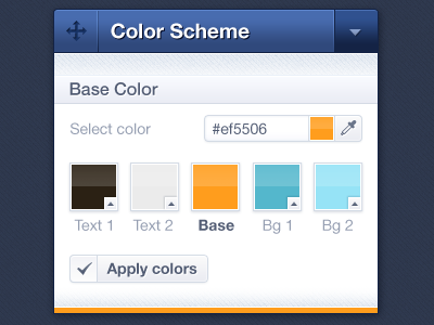 Color Picker design blue webdesign ui app button interface box icon icons web control toolbox toolbar color colour color picker color scheme