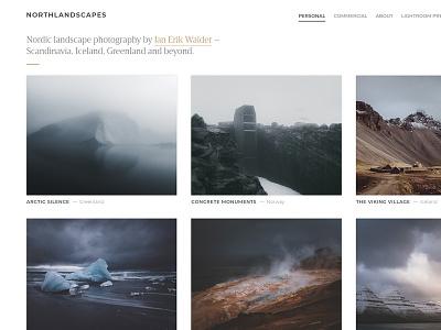 Photography Portfolio / Gallery Grid thumbnails typography website portfolio webdesign images gallery grid photography