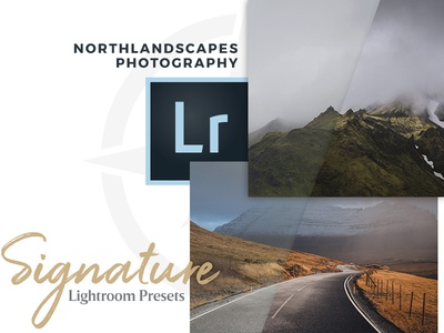 Northlandscapes - Signature Lightroom Presets landscape lightroom signature interface webdesign icon typography card cover photography
