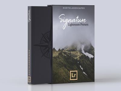 Packaging Mockup - Northlandscapes Signature Lightroom Presets design graphicdesign typography icon photography product packaging mockup