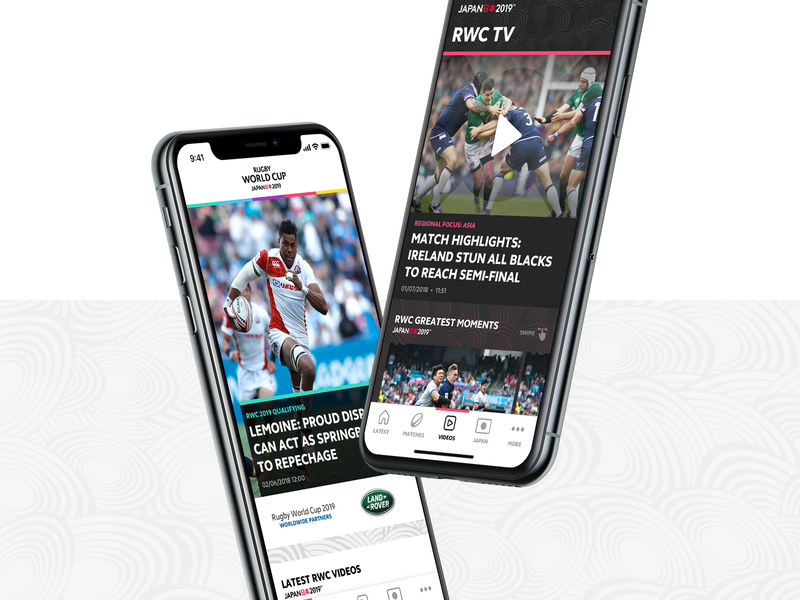 Rugby World Cup 2019 - Mobile App by Pulselive on Dribbble