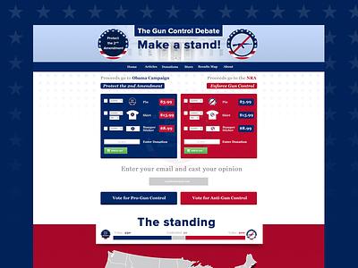 Gun Control Debate Website badges gun-control stars flag usa white blue