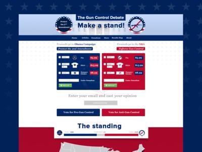 Gun Control Debate Website