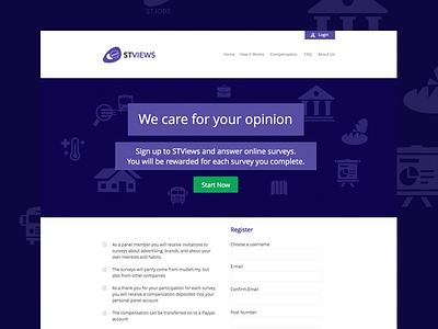 STViews Panel Website purple white web-design web-development content management system typography color-pallete responsive