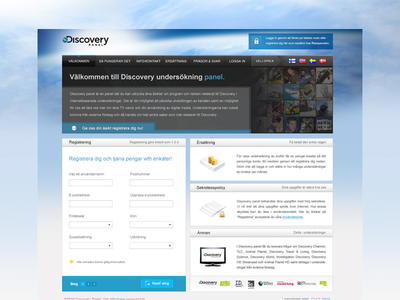 Discovery Panel Website discovery discoverychannel landing-page bluewhite web-design