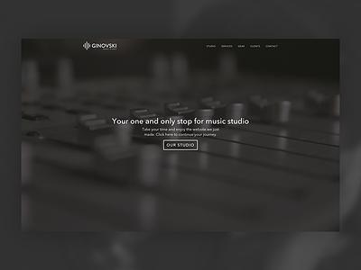 Ginovski music-studio music ui-ux web-development web-design brown white black