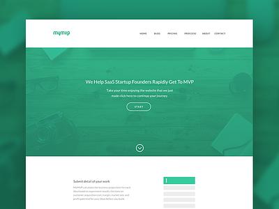 MyMVP responsive color-pallete typography content management system web-development web-design white green