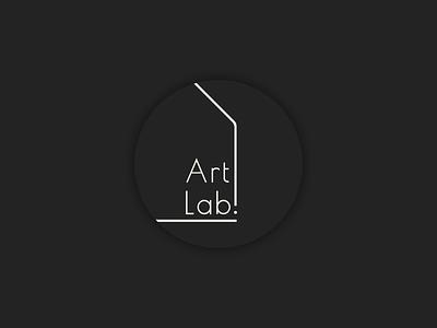 Art Lab logo typeface building house circle artwork architecture design typography art typo typography minimal logo letter vector illustration graphic design design branding art