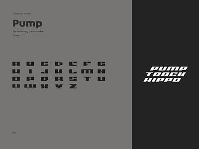 Veshapi Series 'Pump track Hippo' Logo and Font fonts font design font typographic typography art typogaphy letters logo design lettering type logotype typo typography letter illustration graphic design design logo branding vector