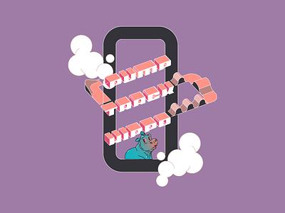 Pump Track Hippo - Merch illustrations animation disney sketch cartoon isometric letter isometric typo isometric art isometric typo letter icon typography logo branding vector illustration graphic design design