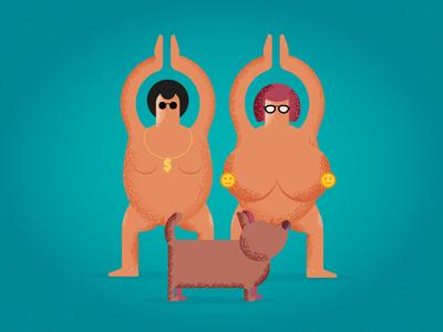 Family Naked Yoga