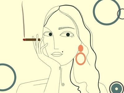 4:20 girl figma woman illustration art 4:20 smoking design girl artist painting illustration illustrator