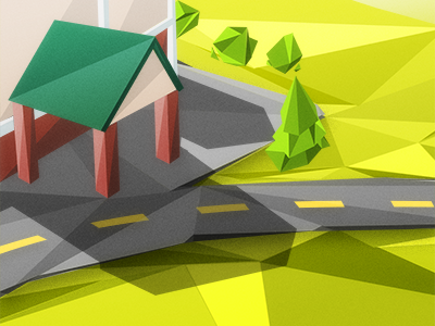 Scene  fake low poly