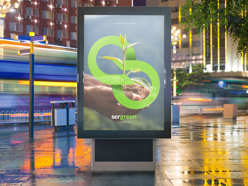 SERGREEN (1/4) renewable energy renewable leaf brand identity brand design ecology eco brand