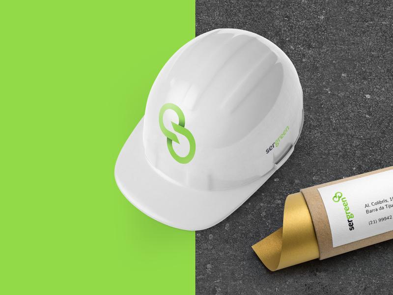 SERGREEN (2/4) icon logo eco brand identity brand design renewable leaf ecology renewable energy brand