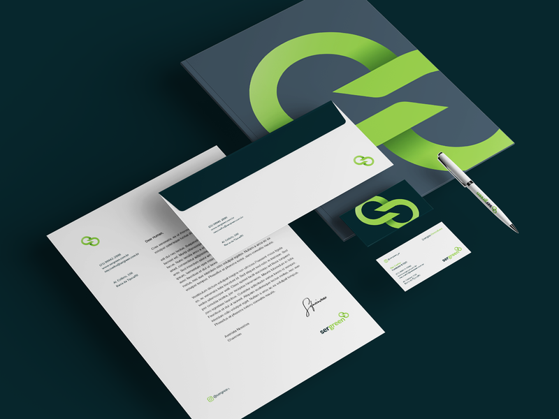 SERGREEN (4/4) startup logo startup stationery brand design renewable branding logo ecology eco design icon brand