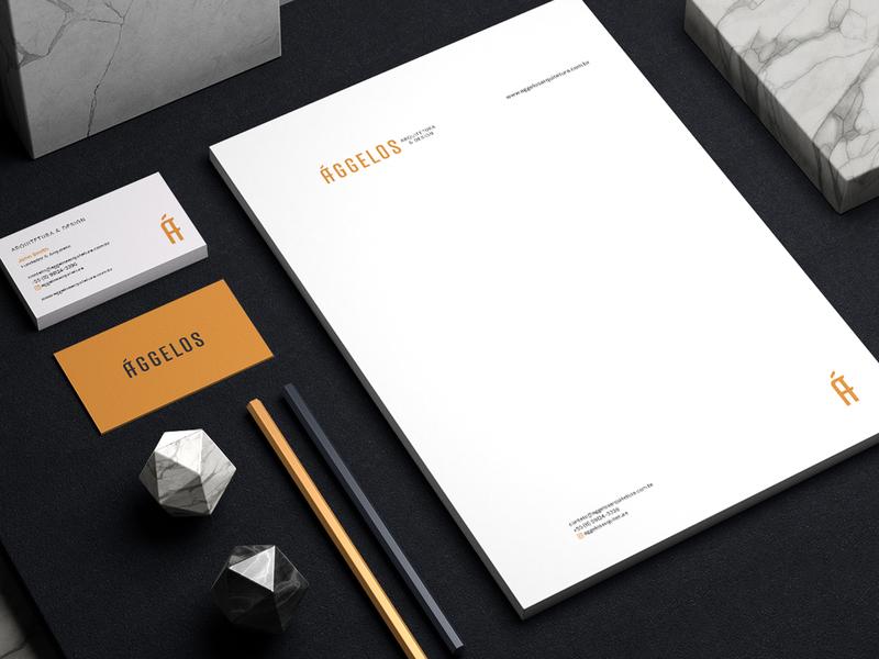 ÁGGELOS (3/4) brand design brand identity design branding logo business card visual identity architecture architect brand stationery