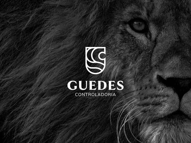 GUEDES (1/4) advisory lion logo lion finances accounting account branding brand identity logo brand