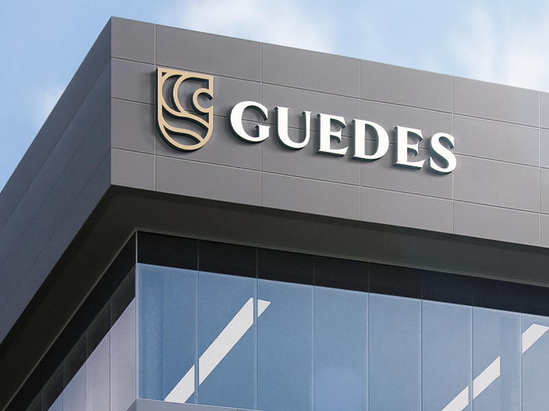 GUEDES (4/4) accounting account branding logo architecture brand identity brand design brand