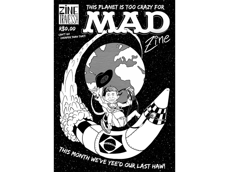 Mad Zine cover art arte de capa characterdesign character design ilustração illustration digital art design arte digital 2d art zines