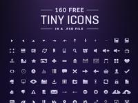 160 tiny Icons [Free PSD]