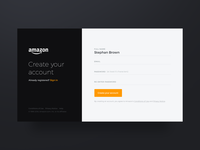 Amazon signup form