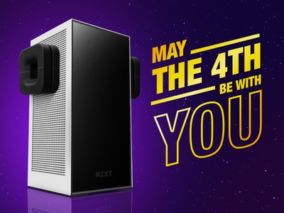 NZXT H1 Mini PC - Star Wars Day may4th gaming pc h1 puck starwars
