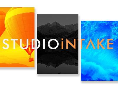 Welcome to Studio Intake. minimal typography design branding logo website webdesign
