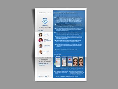 Executive Summary Business collateral design amitdey australia dental