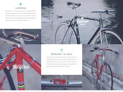 Bicycle Flat Layout [PSD] psd flat design ui