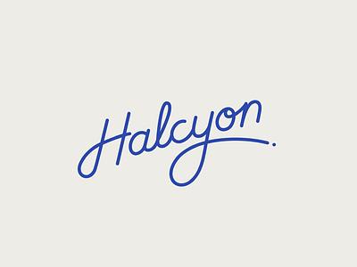 Halcyon custom lettering