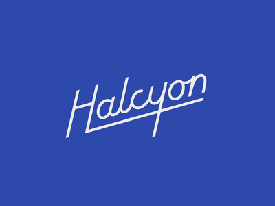 Halcyon custom lettering lettering type logotype