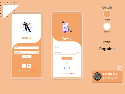 Login & Signup Page design app ui mobile app