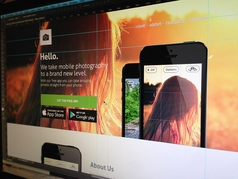 App website template