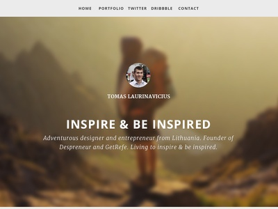 Personal Blog blog personal web design
