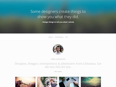 Tumblr Portfolio Theme Alpha portfolio theme alpha web design tumblr