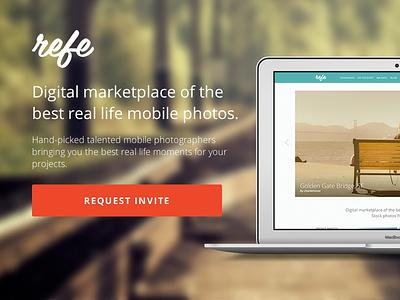 Refe Landing Page refe landing page web design website