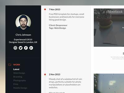 Timeline Portfolio Tutorial portfolio web design website tutorial timeline