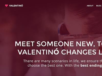 Valentino - Free PSD Template freebies free valentino psd template landing page